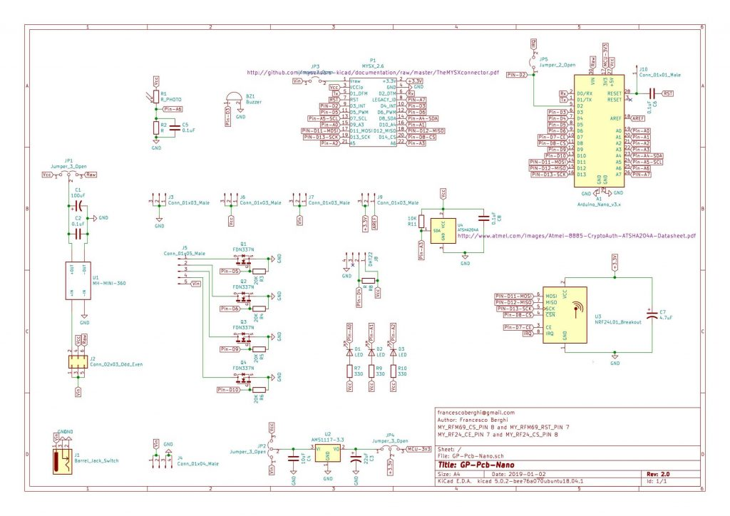 GP PCB Nano - Schematics
